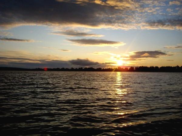 Рассвет на реке Кама