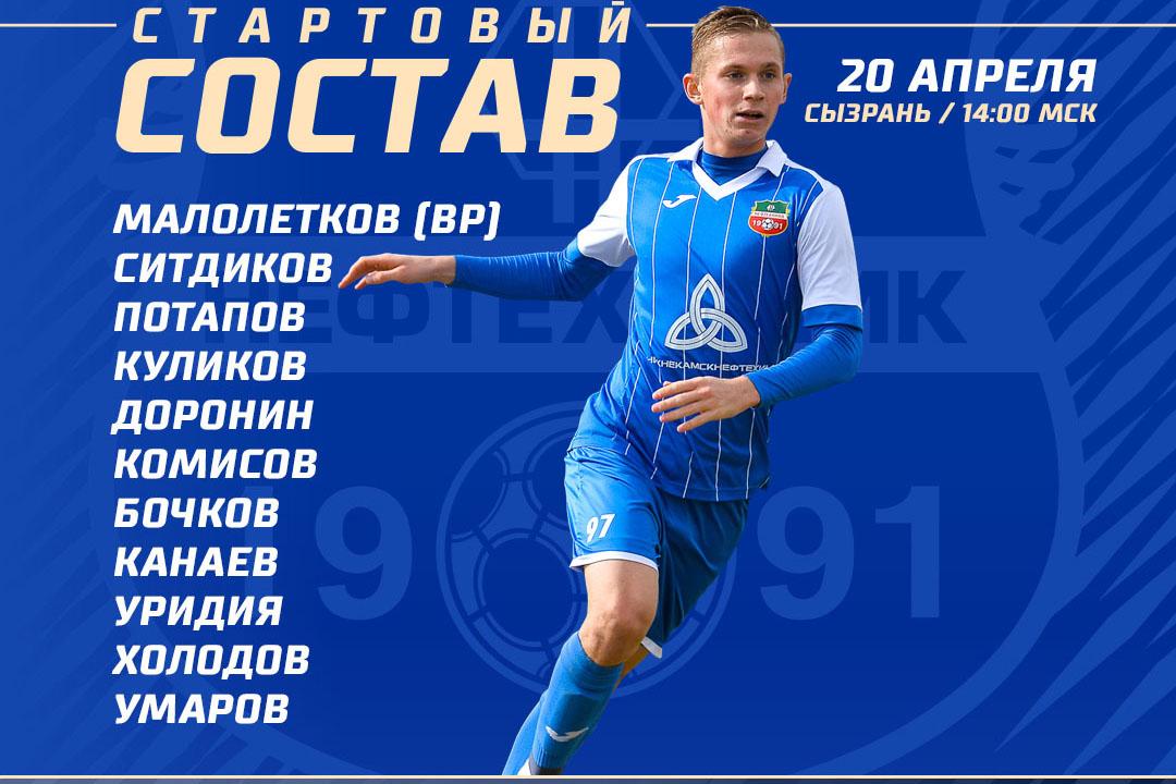 «Лада-Тольятти» — «Нефтехимик»: стартовые составы команд