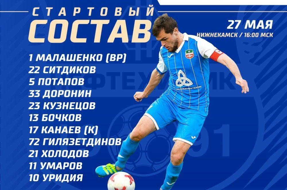 «Нефтехимик» — «Зенит-Ижевск»: стартовые составы команд