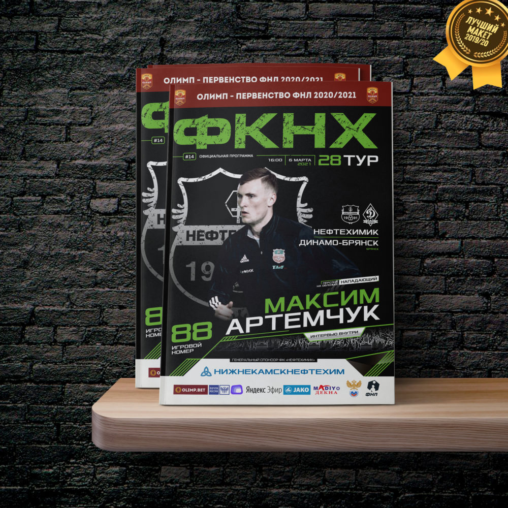 Программка к матчу «Нефтехимик» — «Динамо-Брянск»