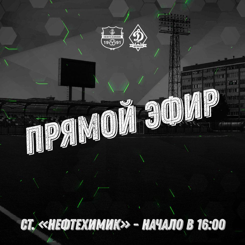 Прямая видеотрансляция матча «Нефтехимик» — «Динамо-Брянск»