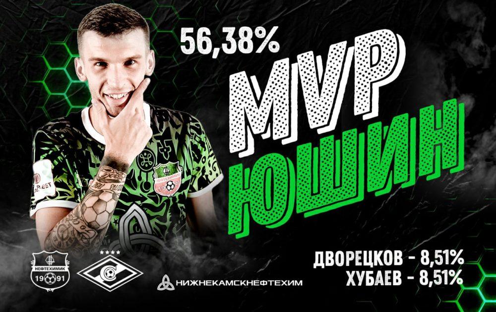 Александр Юшин — лучший игрок матча «Нефтехимик» — «Спартак-2»
