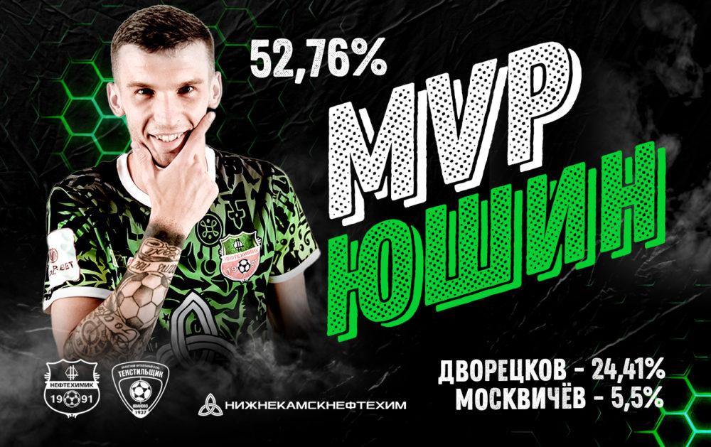 Александр Юшин — лучший игрок матча «Нефтехимик» — «Текстильщик»